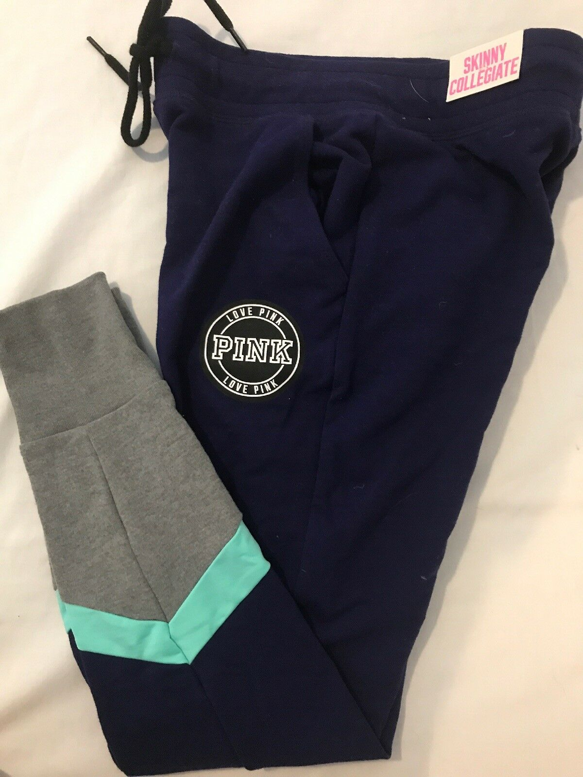 NWT Victoria's Secret Pink Skinny Collegiate Sweat Pants XS