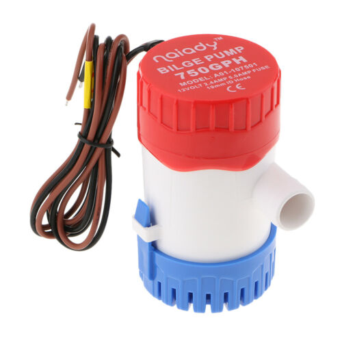 12V 750GPH Boat Bilge Water Pump Mini Electric Submersible Pump