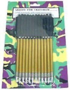 12 Pcs Corps En Aluminium Flèches, 50-80 Lb Crossbow Arrows-afficher Le Titre D'origine