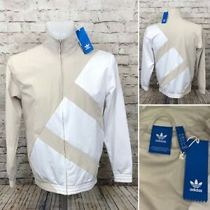 Details about Adidas Originals EQT Bold TT Track Jacket White Tan Size Small A8 13
