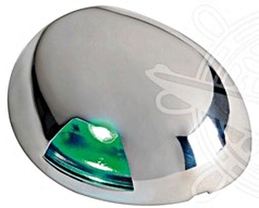 Osculati Sea-Dog Watertight 2-nm Green Right LED Navigation Light Flat Mount 12V