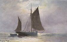 SHIPPING : A solitary sailing boat-undivided back -WRIGHT-HILDESHEIMER