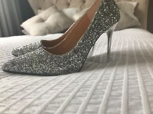 Silver Sparkly Shoes Size 5 - small