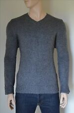 NEW Abercrombie & Fitch Lost Pond V-Neck Sweater Jumper Dark Grey XXL