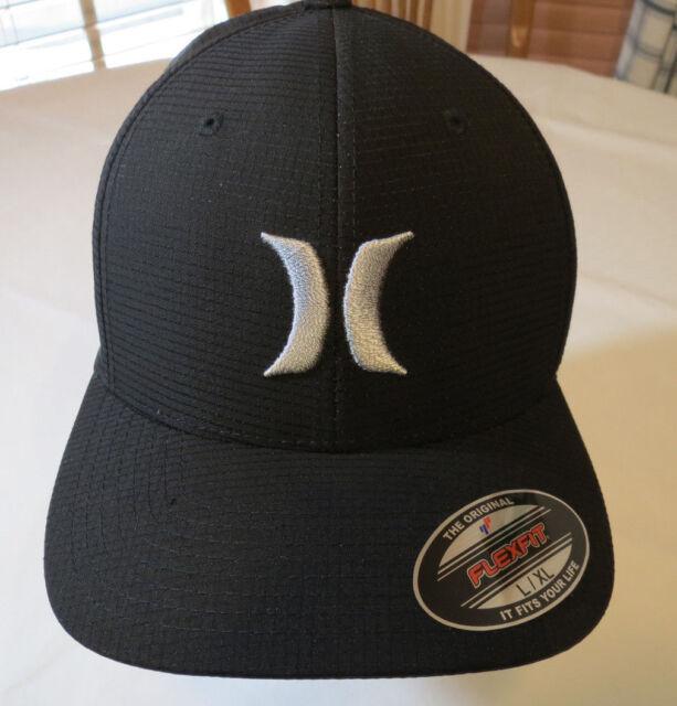 buy popular 93d0e 2612b Hurley Mens Black Suits 2.0 Flexfit Logo Hat Flex Fit Baseball Cap Size L xl