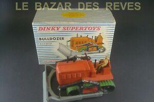 DINKY TOYS FRANCE. BULLDOZER BLAW-KNOX.  REF: 885  + Boite.
