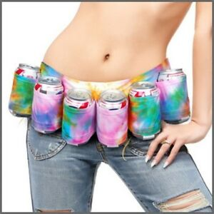 Tye-Tie-Dye-Party-Beer-Holster-Belt-Holder-Bottle-or-Cans-Big-Mouth-Toys