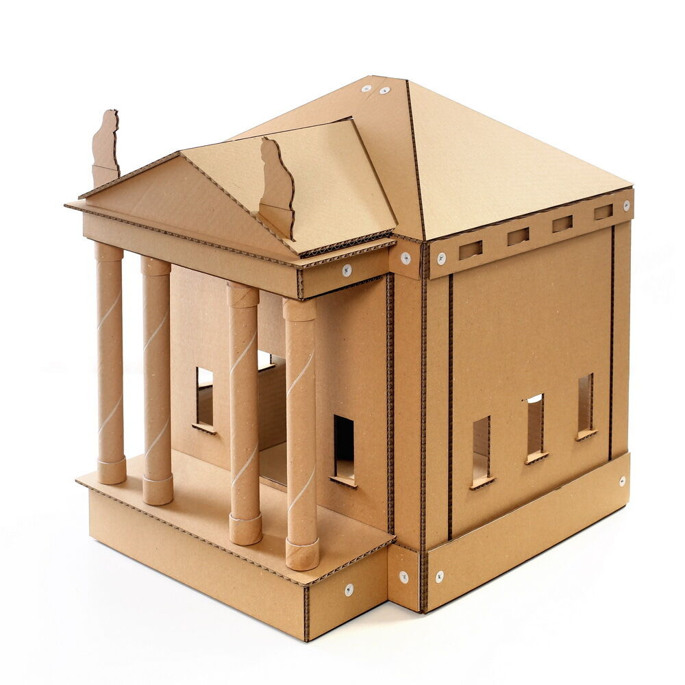 The Temple Cardboard Cat House