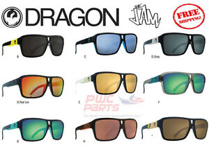 7b79c95aa14c DRAGON The JAM Sunglasses Rasta Sky Blue Matte Black White Gold ALL ...