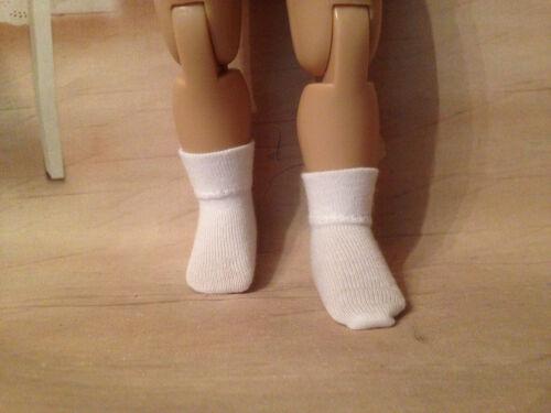 """2 pair White Ankle Socks for 10/""""  Tonner Patsy or Ann Estelle doll"""