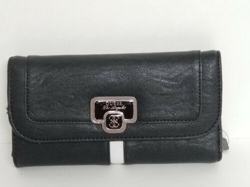 Guess Atoka Black Multi Med or Large Wallet Clutch NWT
