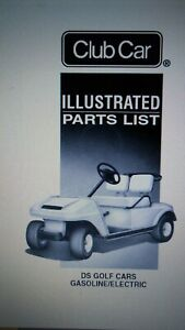 Details about Club Car DS Gas/Electric Illustrated Parts List Manual GC-55