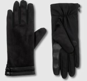 ISOTONER-Touch-Screen-Gloves-Microfiber-Fleece-Lining-Water-Repellant-Winter-New