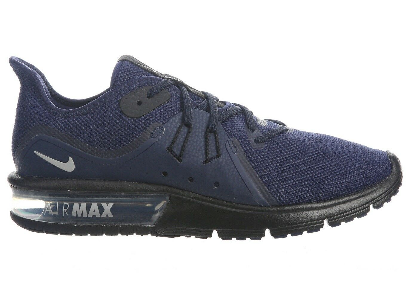 Nike Air Max Sequent 3 Mens 921694-404 Midnight Navy Running Shoes Size 8