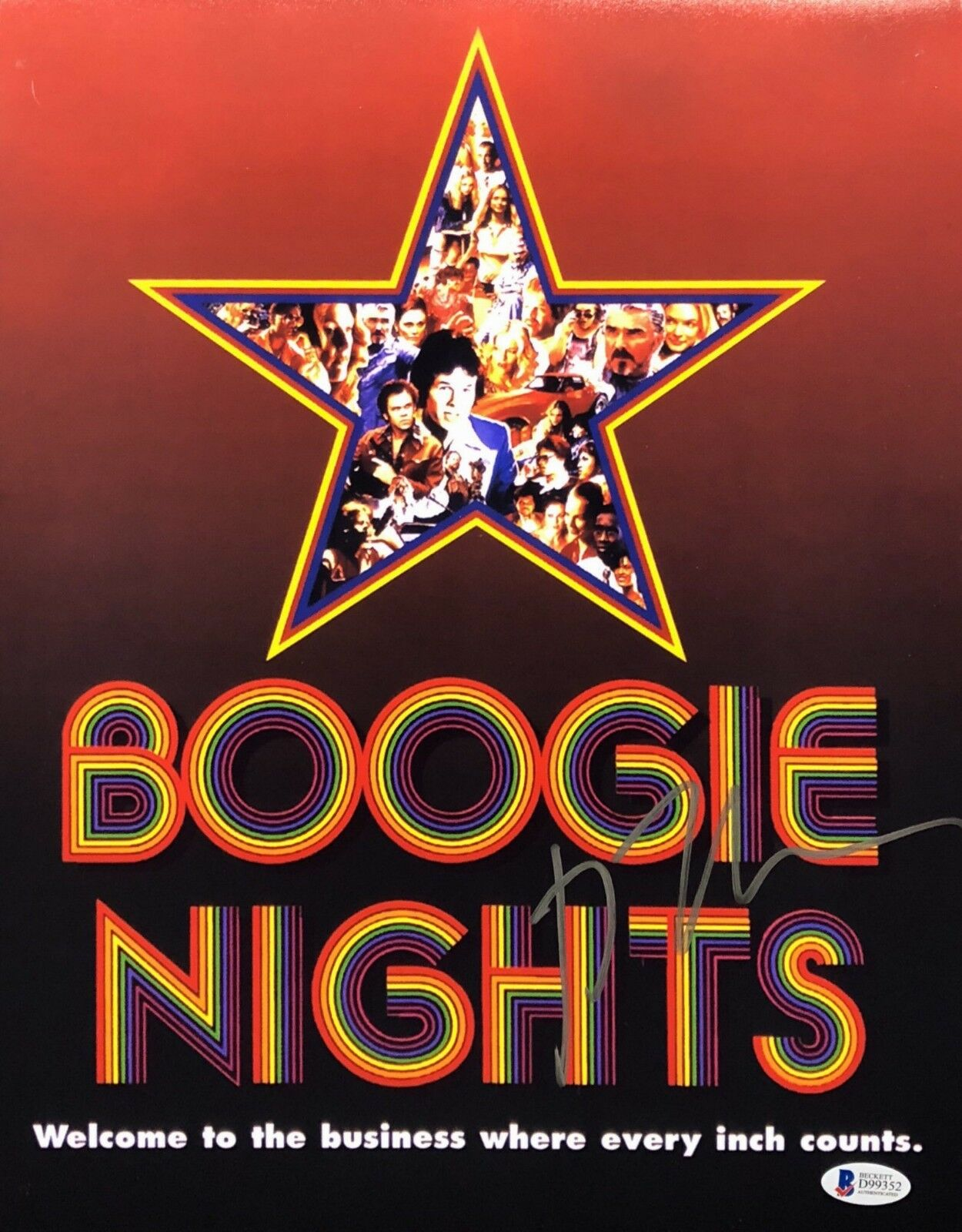 Paul Thomas Anderson Signed 'Boogie Nights 11x14 Photo Beckett BAS D99352