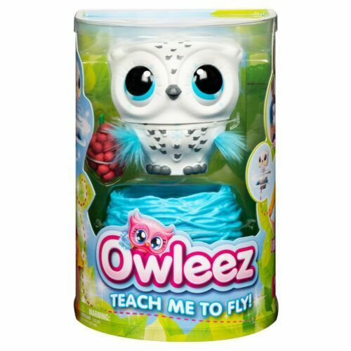 White Owleez Teach Me to Fly Flying Baby Owl Interactive Toy with Lights Sounds