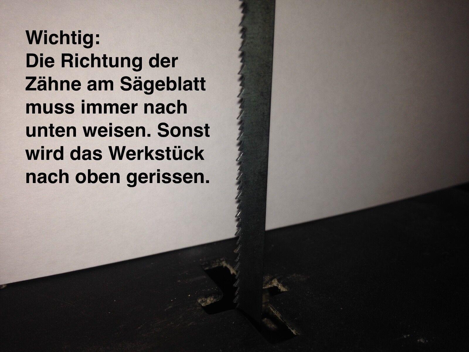 ✅ 6 schmale Holz Sägeblätter für King Craft KFZ 400 R Dekupiersäge 135-127mm  ✅