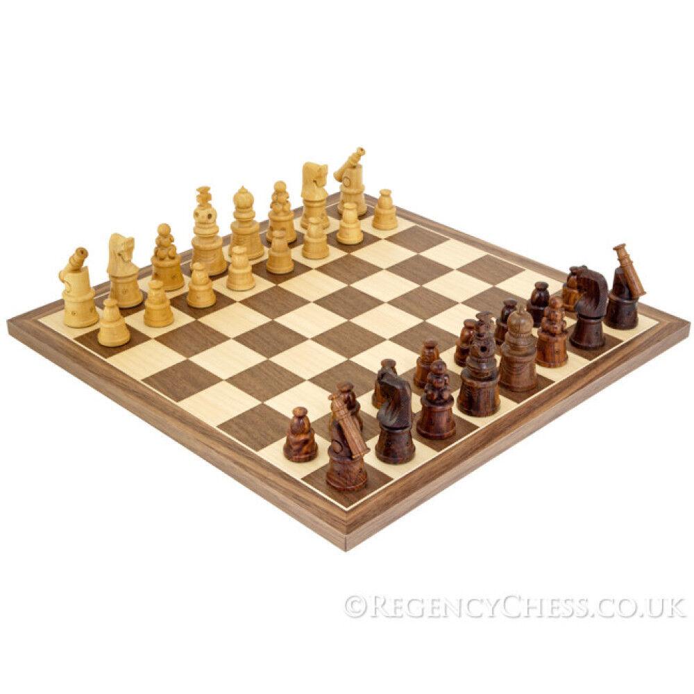 Cannon Sheesham and Walnut Chess Set