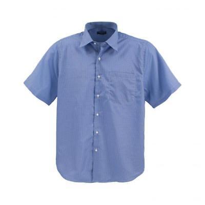 Umile Lavecchia Uomo Camicia A Maniche Corte Camicia Blu-a Quadri Tg. 4xl 6xl #18-01- Né Troppo Duro Né Troppo Morbido
