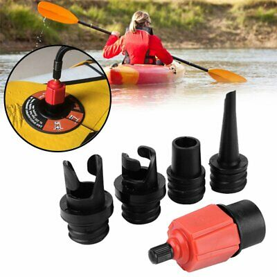 Plastique Valve Adaptateur de Tuyau Pompe à Air Pour Kayak Bateaux Gonflable