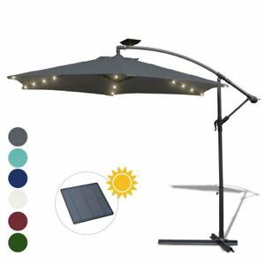 Sonnenschirm-LED-Solar-Ampelschirm-Gartenschirm-300-350cm-Pavillon-UV-Schutz
