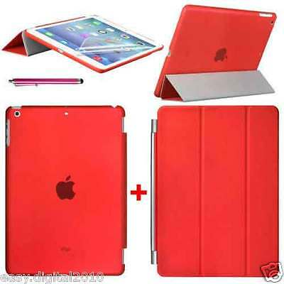 Magnetic Smart Cover Leather + Back Case for New Apple iPad 6 iPad Air 2 2014