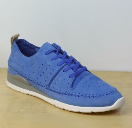 """rrp £55 M/&S /""""LIGHT AS AIR/"""" Real LEATHER Lace-Up TRAINERS ~ Size 5 ~ BLUE"""