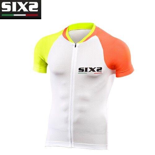 Jersey T-Shirts T-Shirt Fahrrad SIXS SIXS SIXS Orange gelb 100% Italien BIKE3 UL 2f7c40