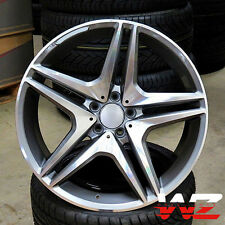 """18"""" 5 Twin Style Staggered Wheels Gunmetal Fits Mercedes AMG C S CLA CLK E Class"""
