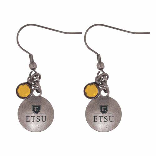 East Tennessee State University-Frankie Tyler Charmed Earrings-Gold