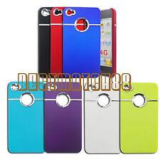 for iphone 4 4g hard case w/ silver chrome belt red blue black white purple+film