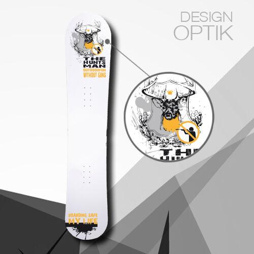 SNOWBOARD SKIN THE HUNTSMAN Design Aufkleber Snowboardtattoo Snowboardaufkleber