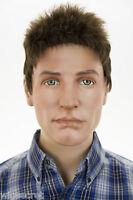 Light Chestnut Brown Brunette Short Straight Men Wig