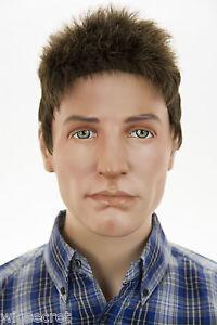 light chestnut brown brunette short straight men wig ebay