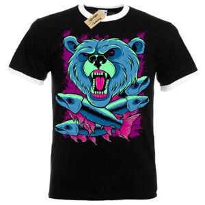 Grizzly-Orso-T-Shirt-Uomo-Suoneria