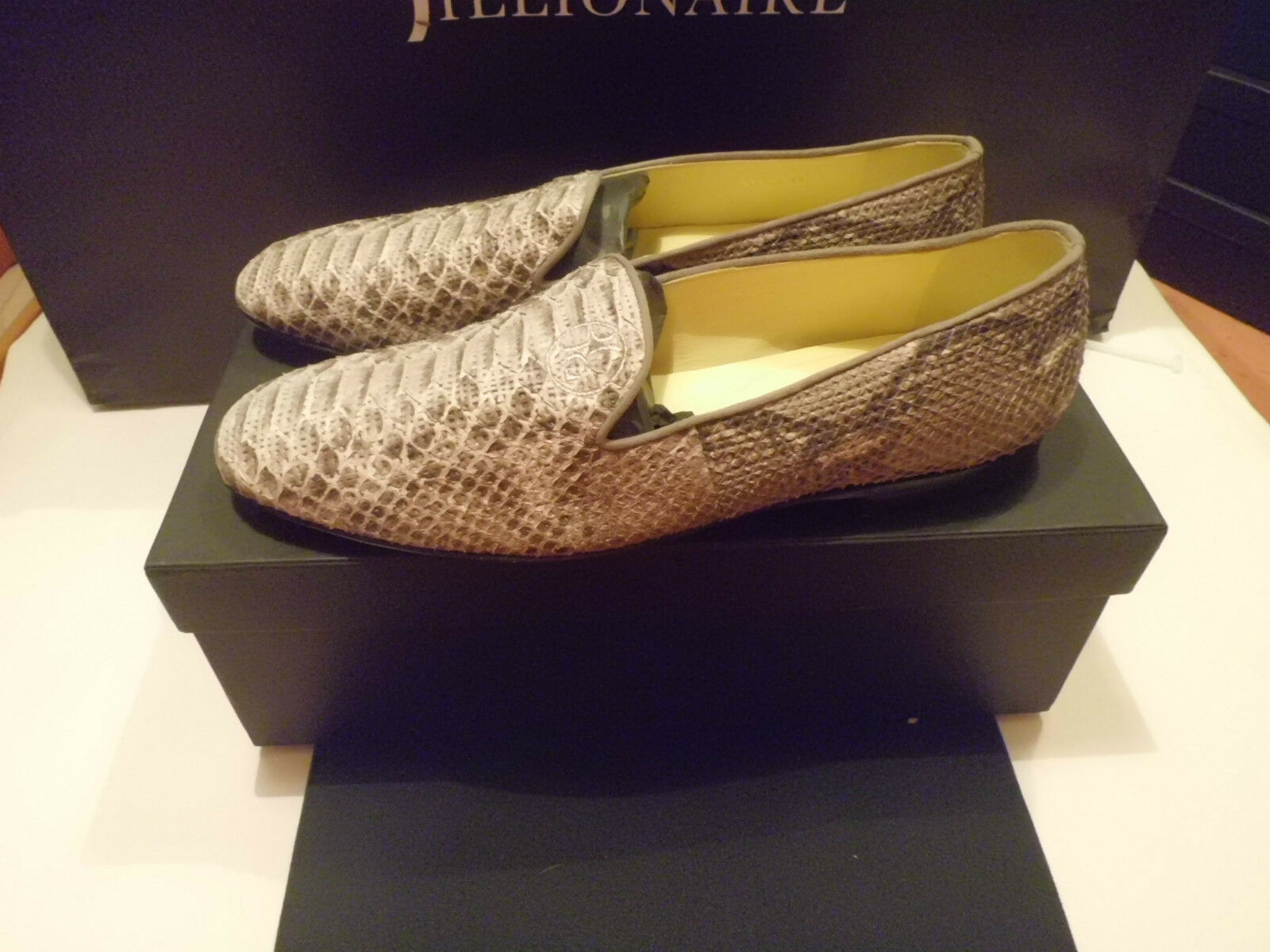 Billionaire  Italian Couture Mocassino  chaussures hommes Pitone  Taille  1300,00
