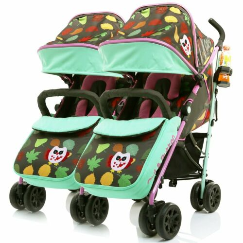 Limited Edition Twin Double Buggy Baby Pushchair iSafe Twin Pram