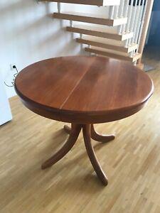 Esstisch Esstisch Rund Ausziehbar Mit 4 Stuhlen Holz Braun Ebay