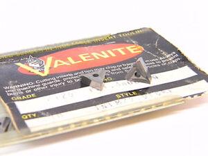 NEW-SURPLUS-10PCS-VALENITE-TNFM-22-010RE-GRADE-VC125-CARBIDE-INSERTS