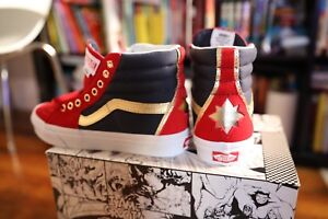 c3f4bba510a Vans x Marvel Captain Marvel SK8-Hi Size 6.5 Womens Limited Edition ...