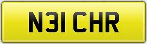 VERY-SHORT-2-DIGIT-CHRIS-CAR-REG-NUMBER-PLATE-N31-CHR-CHRISTOPHER-CHRISSY-CRIS