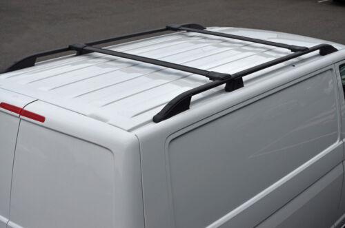 04-15 Conjunto De Carril Negro Barra transversal para adaptarse a Techo Barras Laterales para caber Volkswagen Caddy