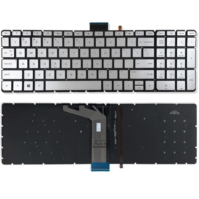 Silver Backlit Keyboard for HP ENVY M7-N Laptops
