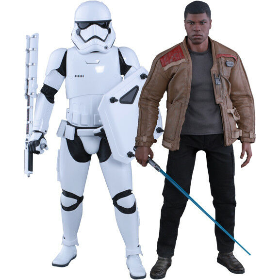 Star Wars - Finn and First Order Riot Control Stormtrooper 1 6th Scale Figure