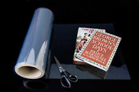 BOOK JACKET COVER Clear archival film 330mm x 20m roll FREE P&P!