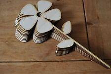Set dieci pezzi di forma un grande fiore Bella Decorazione l6 per decoupage