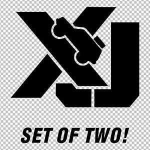 xj jeep cherokee set of 2 decals stickers window bumper custom
