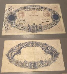 500 Francs Bleu Et Rose Type 1888 – 25/6/31 X.1704 Ttb Bpkmdhyp-07234120-805957164