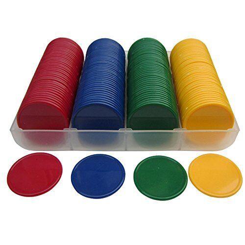 Smartdealspro Set di 160 38 mm opaco in plastica conteggio contatori Poker Chips