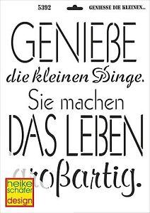 Schablone-A3-Art-Nr-5392-Geniesse-die-kleinen-Dinge-Heike-Schaefer